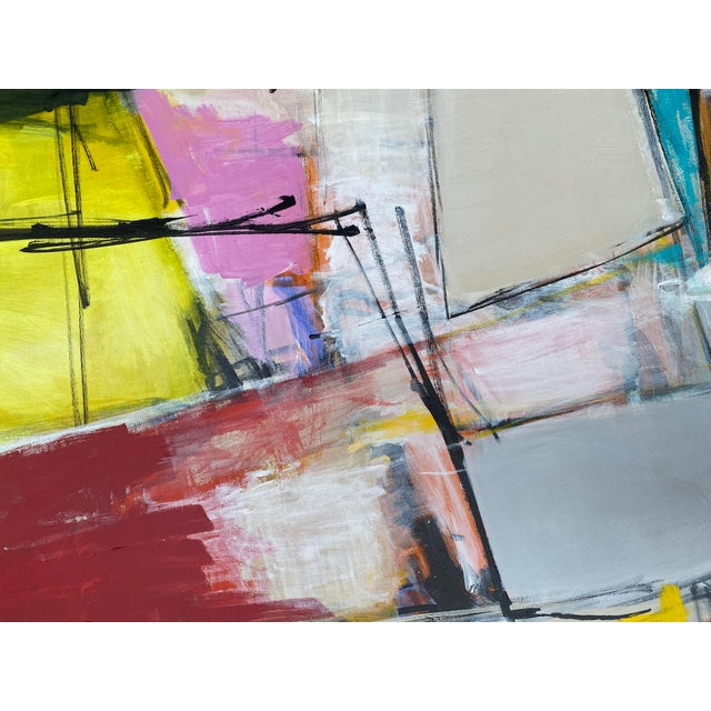 """Paint """"Spare Change"""" Contemporary Abstract Mixed-Media Painting by Sarah Trundle For Sale - Image 7 of 8"""