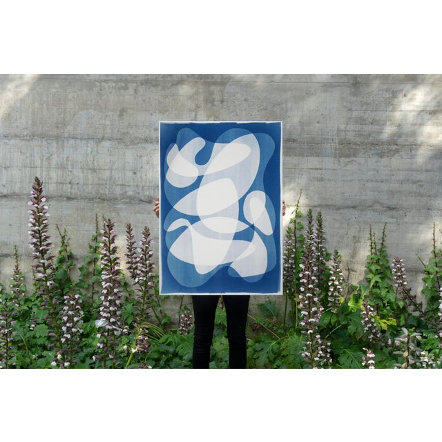 2020 Contemporary Abstract Cyanotype Cutout by Kind of Cyan For Sale - Image 9 of 11