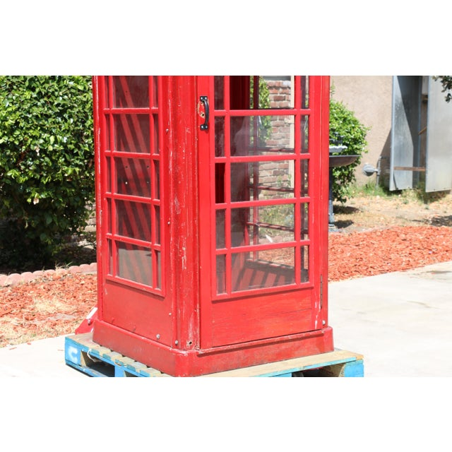 Metal Vintage London Lifesize Telephone Booth For Sale - Image 4 of 13