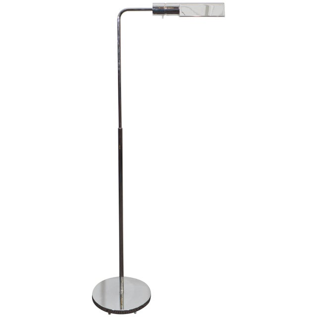 Chrome Casella Adjustable Reading Floor Lamp in Chrome For Sale - Image 8 of 8