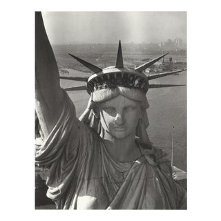 1980 Margaret Bourke-White 'Statue of Liberty, 1952' Photography Gray,Black & White France Offset Lithograph For Sale