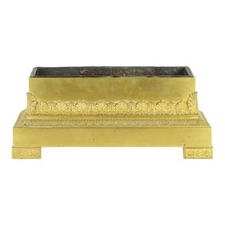 French Empire Period Gilt Bronze Antique Jardinière Planter circa 1830-50 For Sale