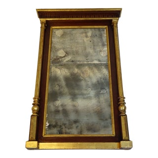 Large Antique Gold Gilt French Empire Wall Mirror For Sale
