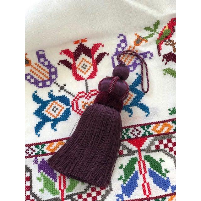 2010s Mulberry Key Tassel W Cut Velvet Ruche For Sale - Image 5 of 11