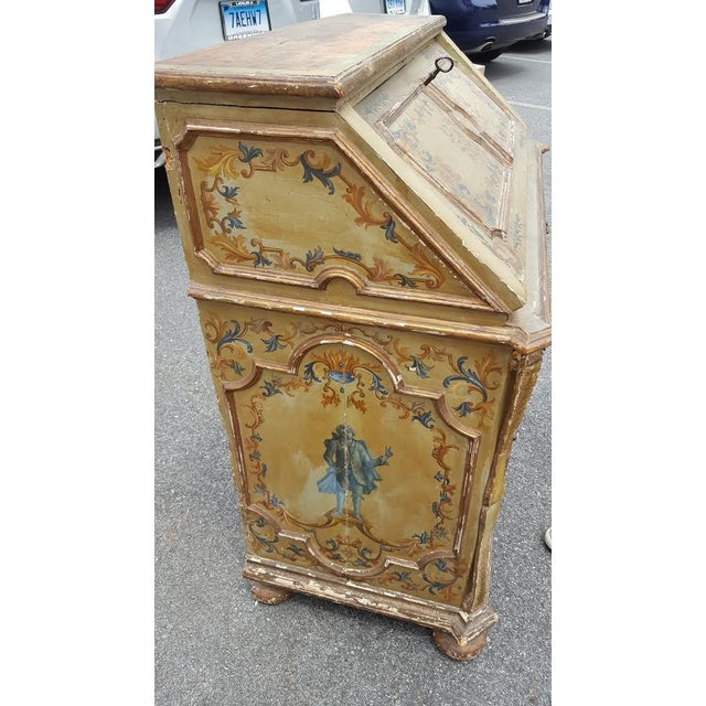 French Distressed Painted Secretary Desk - Image 5 of 11