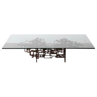 Bronze Brutalist Coffee Table by Daniel Gluck