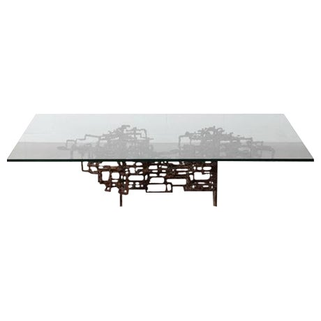 Bronze Brutalist Coffee Table by Daniel Gluck - Image 1 of 10