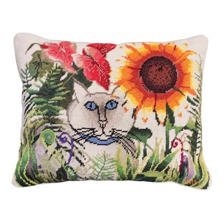 Accent Needlepoint Pillow For Sale