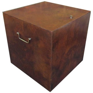 Unusual Burl Wood Lp or Record Storage Box by Directional for Calvin Furniture For Sale