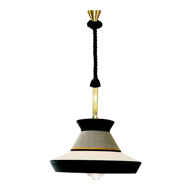 Contardi Calypso Guadalupe XL Outdoor Pendant Light in Moss Green and Grey For Sale
