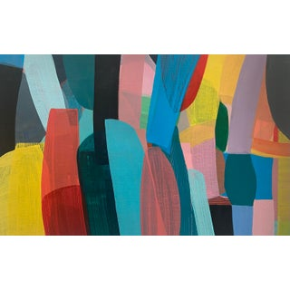 """""""Reach #3"""" Contemporary Abstract Acrylic Painting by Poppy Dodge For Sale"""
