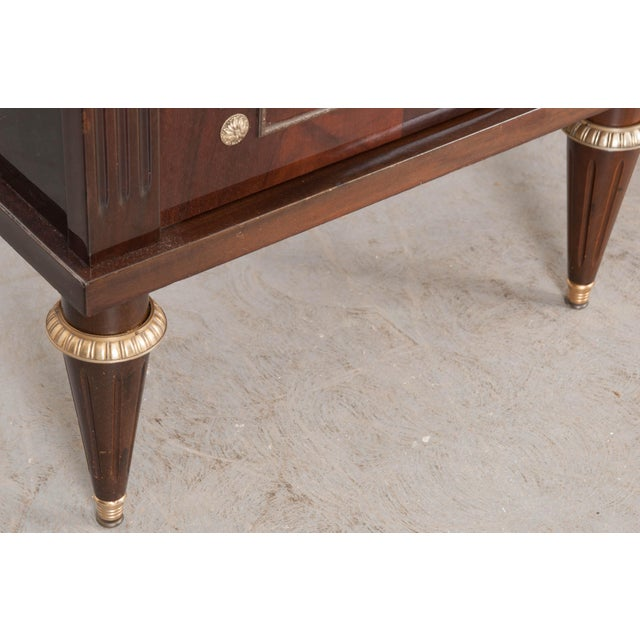 White Vintage French Louis XVI Style Mahogany Enfilade For Sale - Image 8 of 12