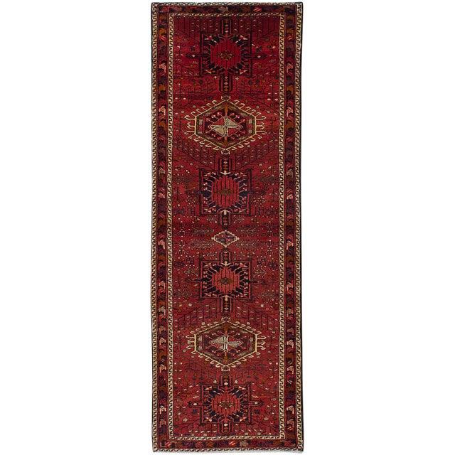 """Gharajeh Vintage Persian Rug, 3'6"""" x 10'10"""" - Image 1 of 2"""