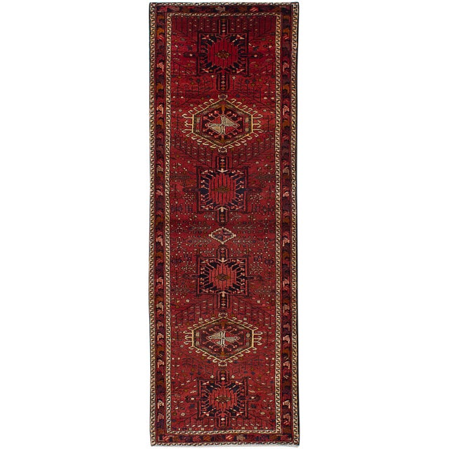 "Gharajeh Vintage Persian Rug, 3'6"" x 10'10"" For Sale"