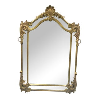 Rococo Metal Framed Beveled Mirror For Sale