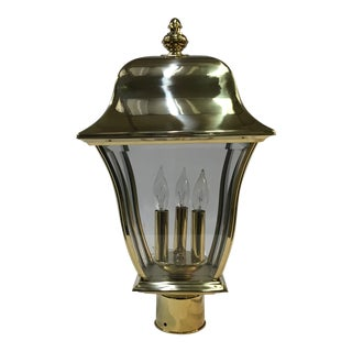 Designer's Fountain Outdoor Gold Post Lamp For Sale