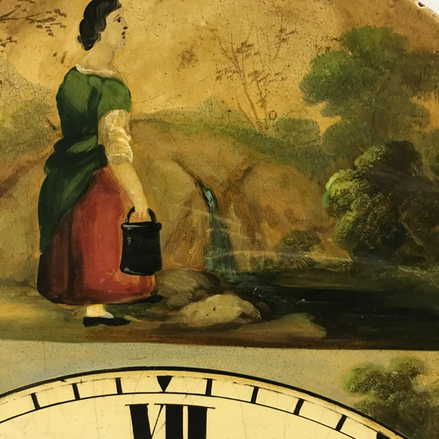Antique English Hand Painted Clock Face, C.1890 - Image 5 of 6