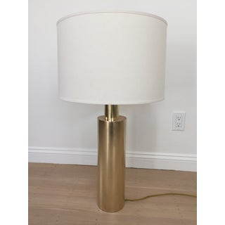 Tall Modern Brass Cylinder Lamp Preview