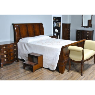 Traditional Mahogany King Size Sleigh Bedframe Preview