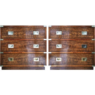 1970's Drexel Campaign Chests - a Pair For Sale