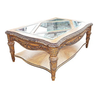 1980s Louis XVI Grand Coffee Table For Sale