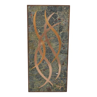 Sigi Pineda Mixed Metal Wall Plaque For Sale