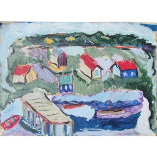 Robert Canete, Seaside Village Monterey Contemporary Painting For Sale