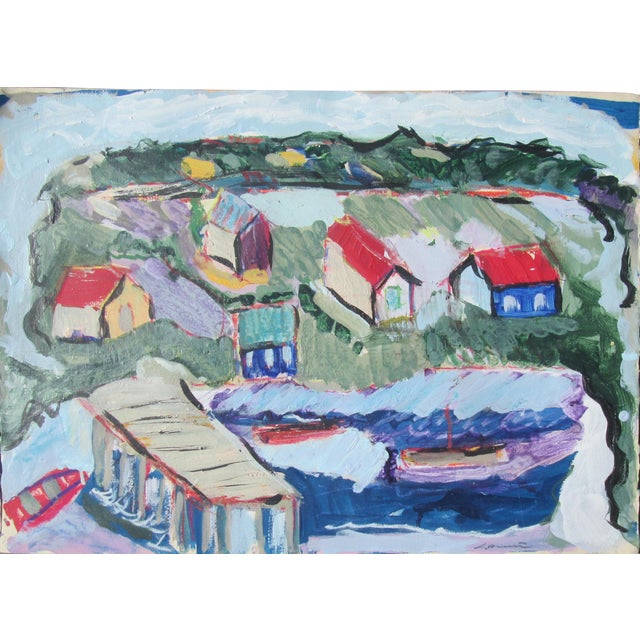 Seaside Village Monterey Contemporary Painting For Sale