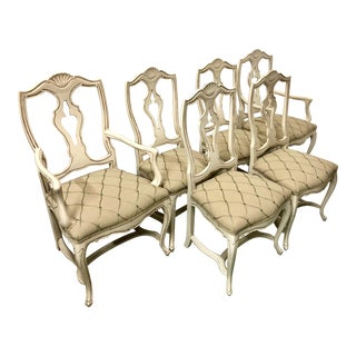Set of 6 French Style Dining Chairs For Sale