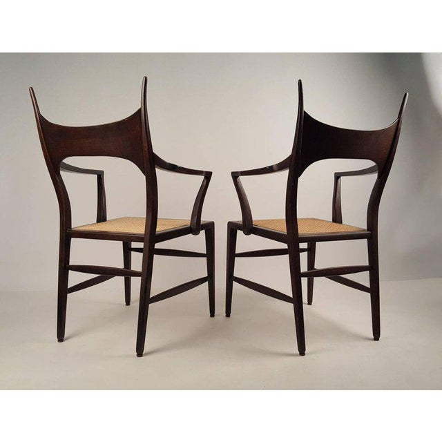 Set of Eight Edward Wormley 5580 Dining Chairs for Dunbar, 1950s For Sale - Image 11 of 13
