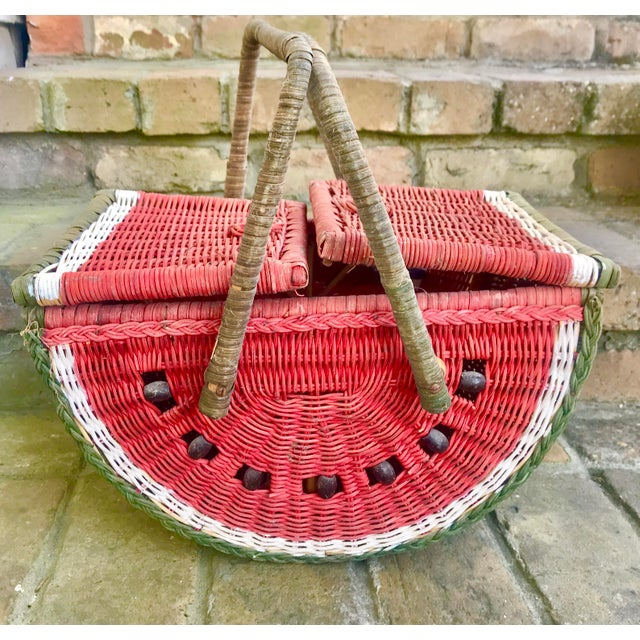 Country Watermelon Picnic Basket For Sale - Image 13 of 13