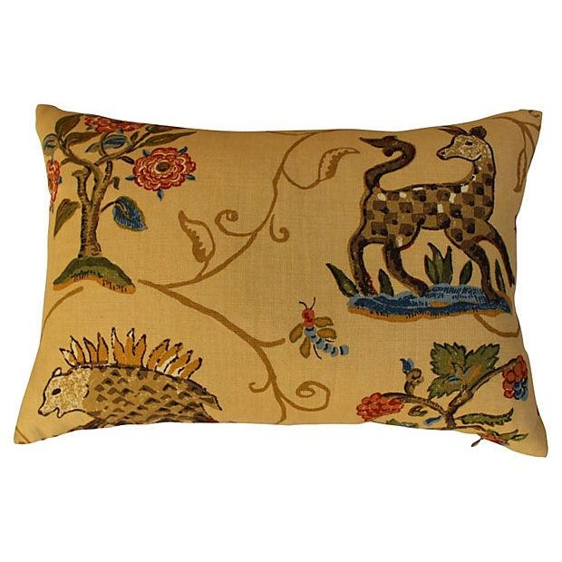 Schumacher La Menagerie Woven Pillows - Pair For Sale In Los Angeles - Image 6 of 6