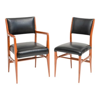Fine Set of 12 Italian Modern Dining Chairs, Gio Ponti For Sale