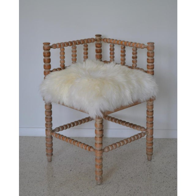 Turned Wood Corner Chair For Sale In West Palm - Image 6 of 13