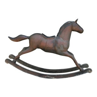 Antique Cast Iron Rocking Horse For Sale