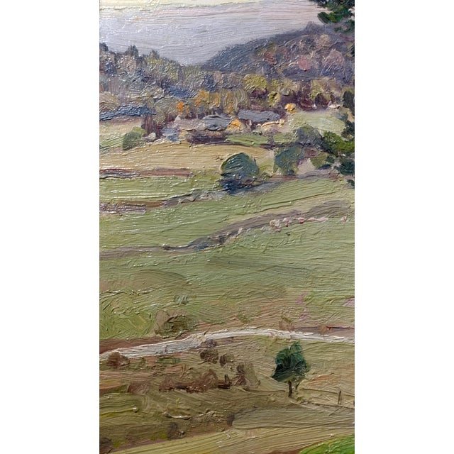 George Gardner Symons-A View down to the Farm-Oil painting-Important Impressionist For Sale - Image 5 of 10