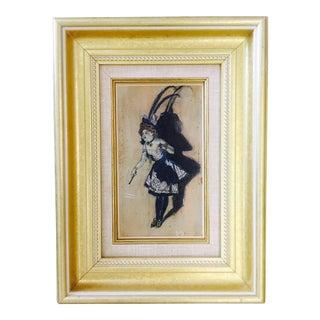 Antique Belle Epoch Oil Painting For Sale