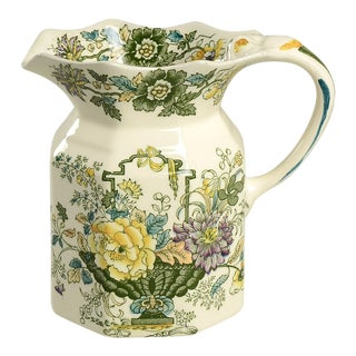 Mason's Strathmore Green Multicolor 32 Oz Fenton Jug For Sale