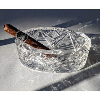 Vintage Glam Lead Crystal Ashtray Preview