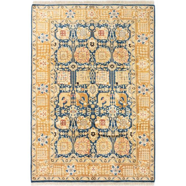 """Bohemian Hand-Knotted Rug, 6'0"""" X 8'7"""" For Sale - Image 6 of 6"""