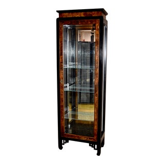 Vintage Ethan Allen Asian Style Lighted Cabinet For Sale