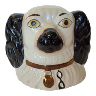 19th Century English Staffordshire Dog Figure Head Bank For Sale