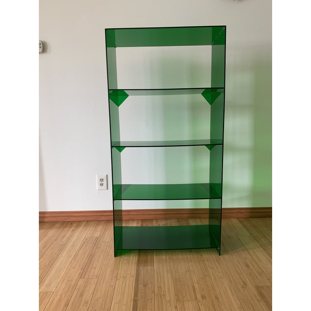 Late 20th Century Late 20th Century Green Acrylic Bookshelf For Sale - Image 5 of 5