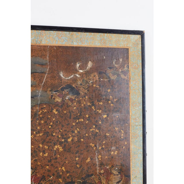 Japanese Four-Panel Edo Screen Battle of Yashima For Sale In San Francisco - Image 6 of 13