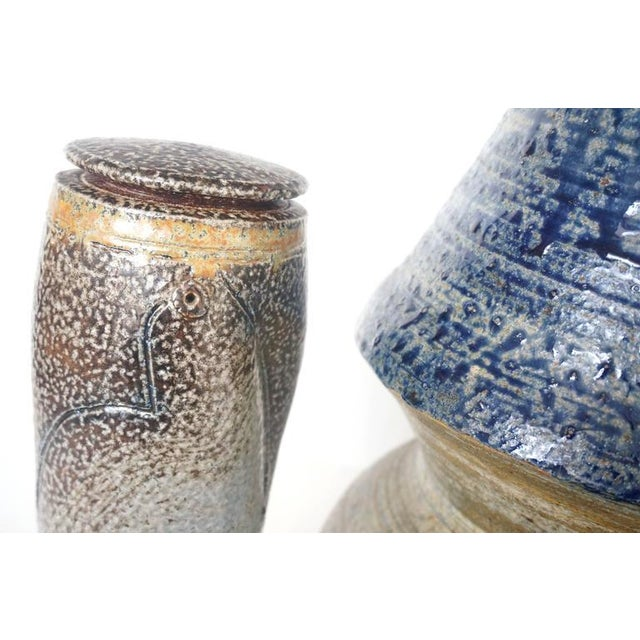 Collection of Three Mid-Century Modern, Studio Art, Stoneware Pieces For Sale - Image 10 of 10