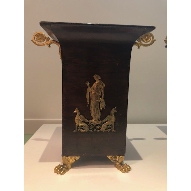 19th Century Neoclassical Napoleon III Cachepots - a Pair For Sale - Image 4 of 10