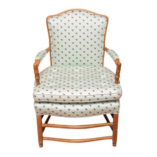 Vintage Upholstered Bergere Chair