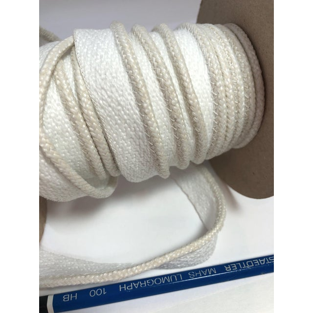 """Contemporary Braided 1/8"""" Indoor/Outdoor Cord in Ivory-White For Sale - Image 3 of 7"""