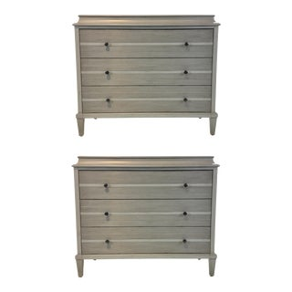 Modern Distressed Gray Nightstands/Chest of Drawers Prototypes Pair For Sale