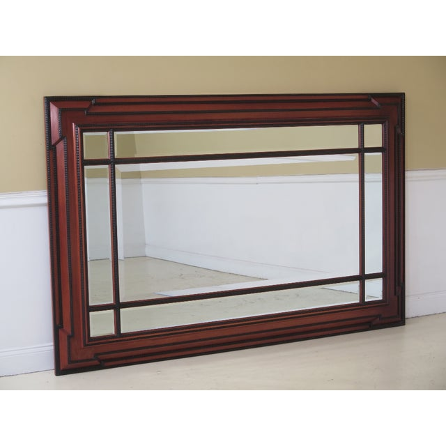 Brown 1990s Vintage Beveled Glass Mahogany Mirror For Sale - Image 8 of 8